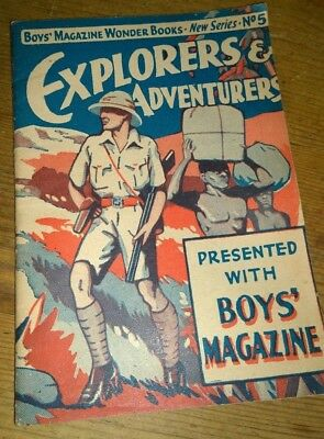 Boys Magazine Wonder Books New Series No5 Explorers And Adventures