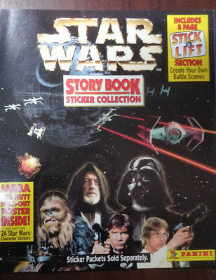 Vintage Star Wars Story Book & Stickers Collection Panini 1996/1997