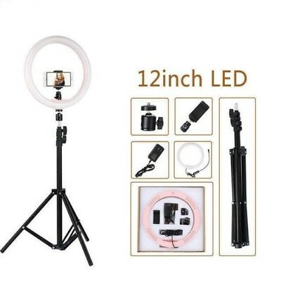 "12"" LED Ring Light 5500K Dimmable Photography Photo Studio Video Lamp for phone"