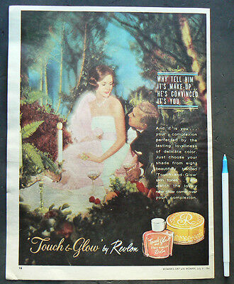 1961 vintage ad REVLON make up advertisement old advert beauty foundation powder