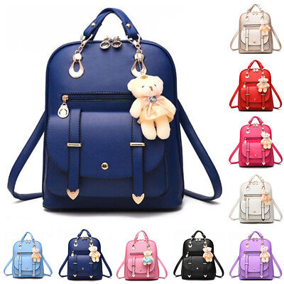 Women Leather Satchel Travel School Backpack Girl Rucksack Handbag Shoulder Bag*