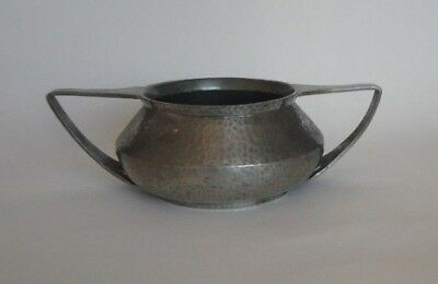 Early 20th century hammerd pewter bowl.  Art Deco or Arts and Crafts style