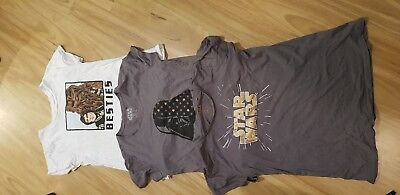 Star Wars Tshirt Bulk Lot Of 3 Girls Womens Size 16  Black Grey Darth Vader