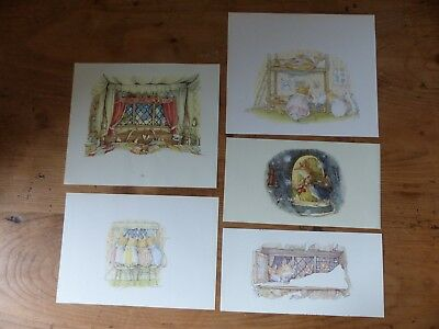Retro Brambly Hedge Book Plates/ Illustration Print - Winter Story Pictures x5