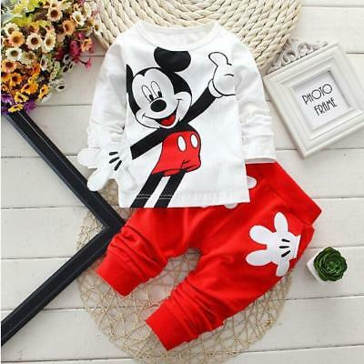 Baby Boys Clothes 2017 Spring Autumn Cartoon Leisure Long Sleeved T-shirts + Pan