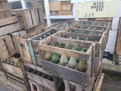 1 x FRENCH WINE CRATE WITH BOTTLES - Genuine Wooden Original Vintage Industrial.