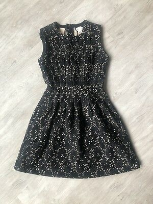 7b4aacd4a1c3 Anthropologie Meadow Rue Black And Cream Lace Eyelit Dress!!! Size Small!