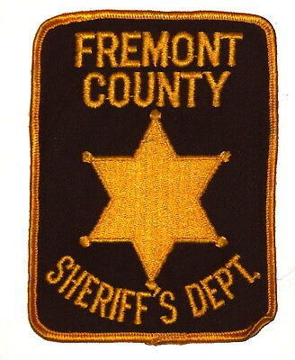 FREMONT COUNTY COLORADO CO Police Sheriff Patch GOLD STAR VINTAGE OLD MESH ~