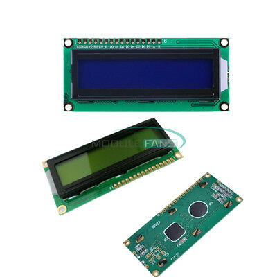 1602 16x2 Yellow+Blue Character LCD Display Module HD44780 Controller backlight