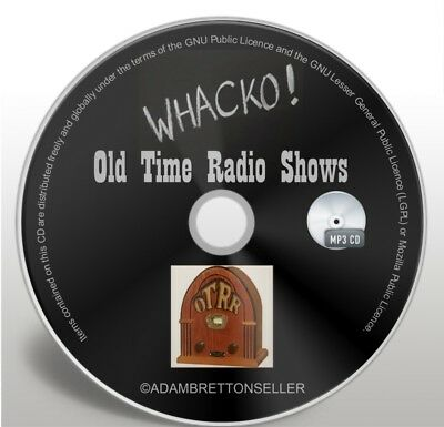 Whack-O - 42 OTR Classic Comedy Old Time Radio Shows - Audio MP3 CD