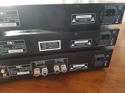 Black Tibo TI 420 DAB/FM Tuner / CD Separate Stack Hi-Fi System Includes Amp