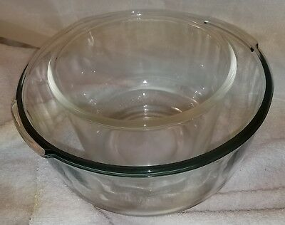 Vintage Oster Kitchen Center Glass Mixing Bowl Set / One Lg / One Small / Nice!!