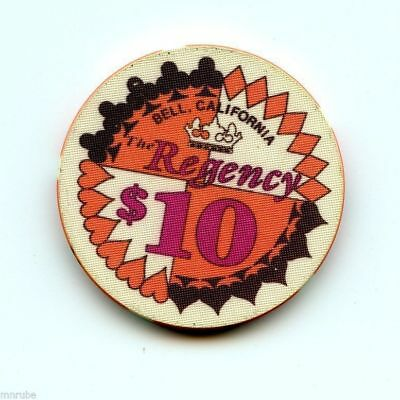 10.00 Chip from the Regency Casino in Bell California