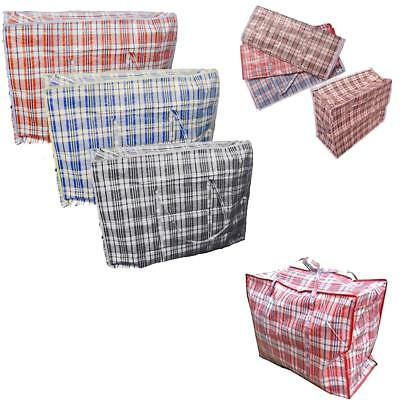 10 x Laundry Bags Reusable Large Zipped Shopping Storage Strong