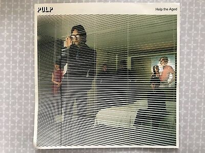 """Pulp - Help the Aged, promotional card 7"""" square card - with lyrics, 1997"""