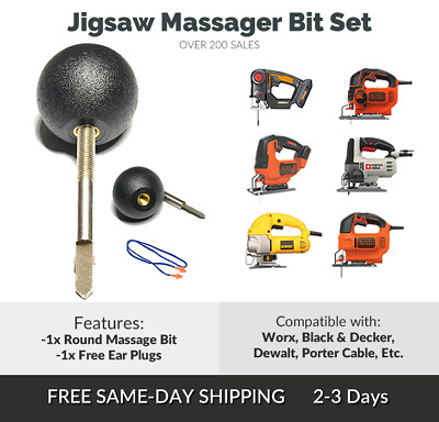 Percussion Massage Tip & Bit For Jigsaw: Jigsaw Massage Adapter Attachment Worx
