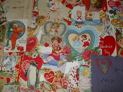 Lot of ~53~ Vintage Valentine/Valentines~Mechanical/Handmade/Victorian