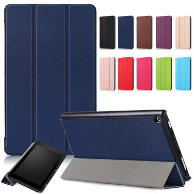 For Amazon Kindle Fire HD 8 8th Gen 2018 Case Smart Leather Hybrid Rugged Cover
