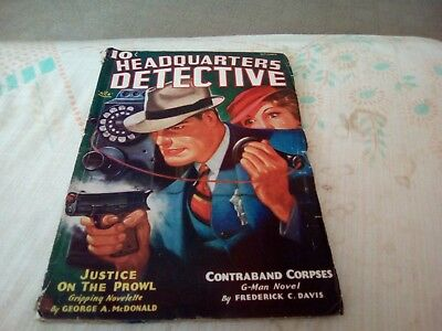 1935 American Headquarters Detective Ace Fiction Magazine /Comic