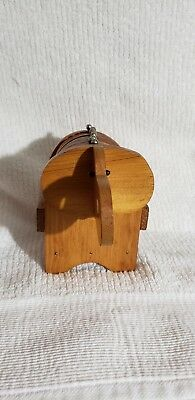Vintage Elephant Box Containing Set of 8 Wood & Cork Drink Coasters ~FREE SHIP~