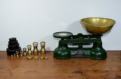 Vintage Salter Staffordshire Kitchen Weighing Scales & Weights