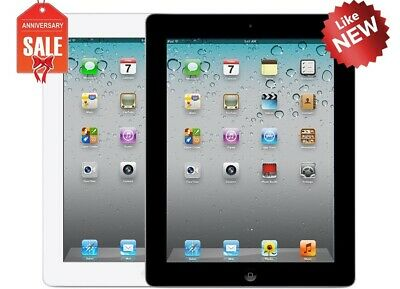 NEW Apple iPad 2nd WiFi + GSM Unlocked | 16GB 32GB 64GB 128GB | Black or White