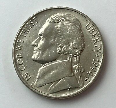 Dated : 1994 - USA - Five Cents - 5c Coin - United States of America