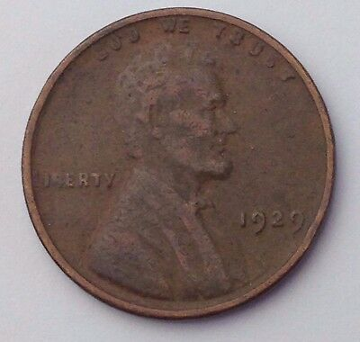 Dated : 1929 - Lincoln - USA - One Cent Coin - United States of America