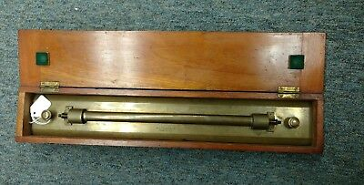 Antique Maritime Brass Parallel Rule A.G. Thornton LTD. Manchester in Case