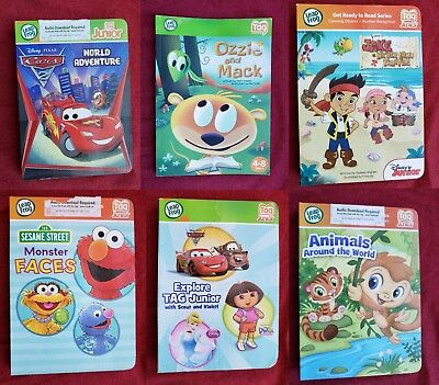 Lot of 6 Chunky Cardboard Leap Frog Tag JR Reading System Books Free Shipping
