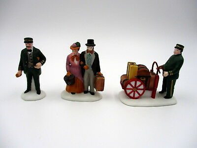 "Vintage Dept 56 Heritage Village ""Holiday Travelers"" 5571-9 Christmas"