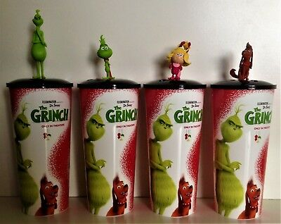 Dr. Seuss' The Grinch 2018 Movie Theater Exclusive Cup Topper Set With 44  oz Cu