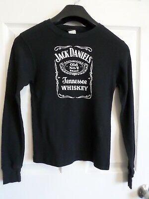 Jack Daniels Tennessee Whiskey Black L/S Thermal Shirt~Youth M~Unisex~EUC