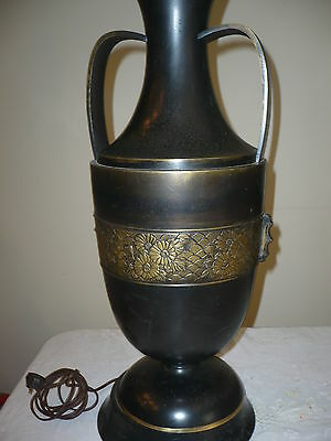 Beautiful Antique Asian Chinese Japanese Huge Taybele Bronze Lamp