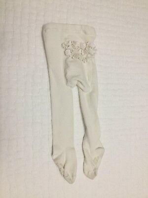 babyGap girl size 12-24 months ruffle-bottom ivory tights