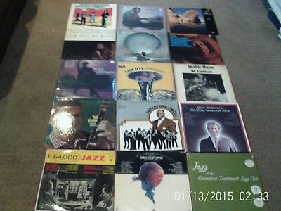 Huge Lot Of Jazz Vinyl Records With Telonious Monk And More Old Jazz Chillin Lps
