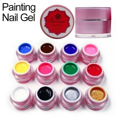 Paint Gel Charming Pure Colors UV LED Nail Painting Gel Color for Art Design