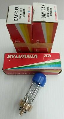 DAY-DAK SYLVANIA Projector Lamp 120V 500W AVG 30 HRS, QTY is ONE, New Old Stock