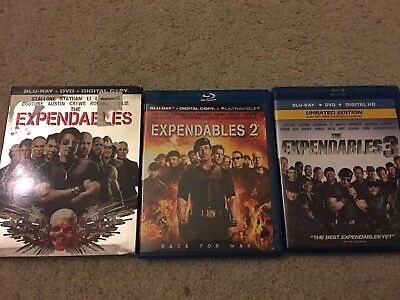 The Expendables:1, 2 & 3 Trilogy 3 Film Collection (Blu-ray Disc) Movie