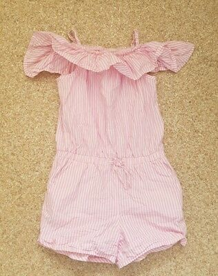 Next Girls Pink striped Playsuit/Age 7 Years/excellent condition