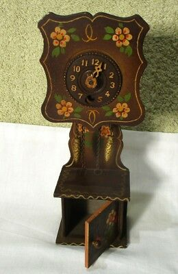 Vintage Wooden Miniature Clock made in West Germany