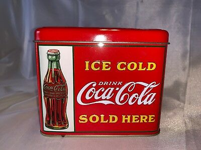 vintage looking Coca cola coke tin  ice chest cooler design with handle rare