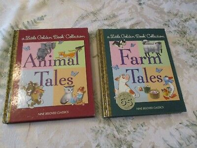 lot of 2 Little Golden Book Collection Books AMINAL TALES & FARM TALES