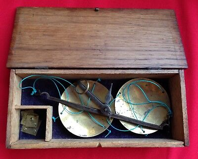 VINTAGE OLD GOLD DIAMOND OPIUM APOTHECARY GOLD SCALES CASED 1800s MINERAL MINES