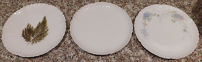 """3 CFH GDM Limoges France Vintage Fine China  7"""" Display Plates 2 Hand Painted"""