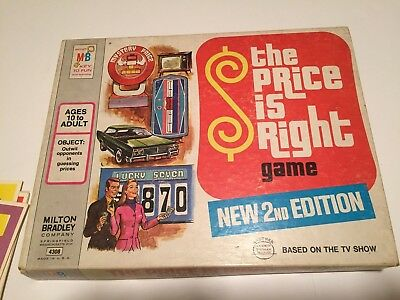 Vintage Used 1974 Milton Bradley Game The Price Is Right 2nd.Edition
