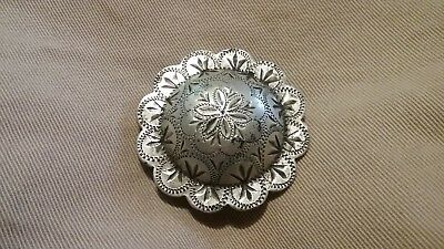 Keyston bros sterling Concho vintage engraved Horse bridle spur brothers