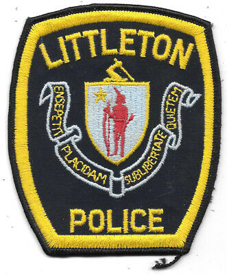 "Police Patch: Littleton Colorado Police Patch Measures 4 1/2"" X 4"""