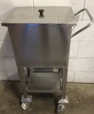Commercial Bar Cafe Restaurant Man Cave Stainless Mobile Ice Or Drinks Caddy