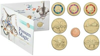 2017 POSSUM MAGIC COIN SET - $1 $2 1c ONE TWO DOLLAR CENT